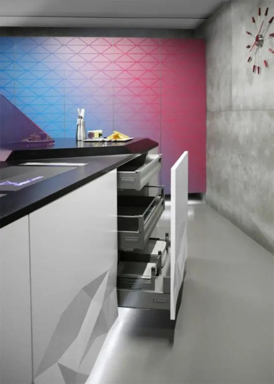Futuristic Kitchen Design Inspired By Origami Digsdigs