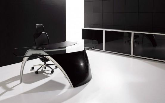 Futuristic Desks for Home Office  Luna By Uffix  DigsDigs