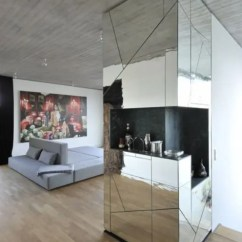 Living Rooms With Grey Couches Colour Schemes For 2016 Futuristic Penthouse Mirror Walls - Digsdigs