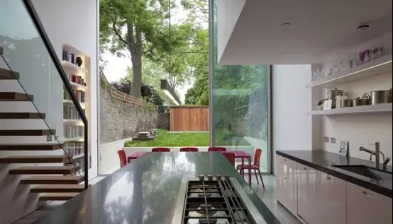 Modern Glass Cube Extension of Victorian Terraced House