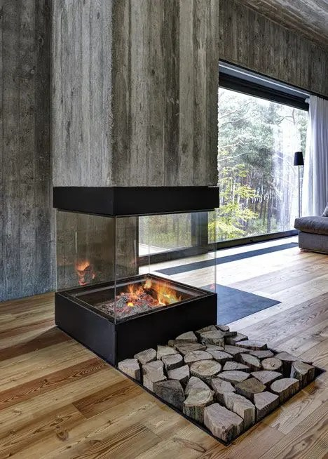 27 Glass Fireplaces To Watch The Fire From All Angles