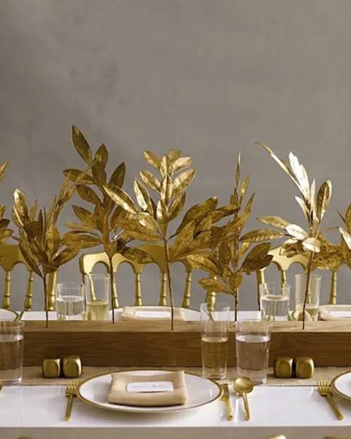 35 Gold Thanksgiving Dcor Ideas DigsDigs