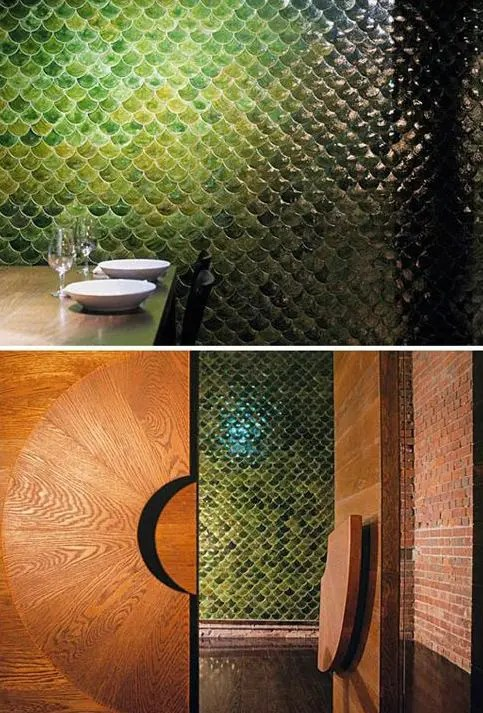 32 Gorgeous And EyeCatching Fish Scale Tiles Dcor Ideas