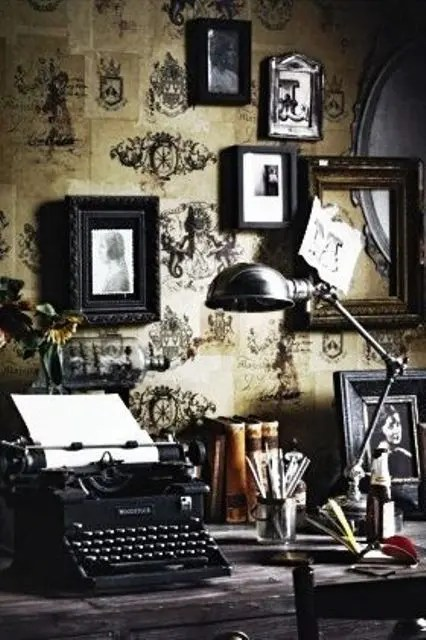 Fall Vintage Wallpaper 21 Gorgeous Gothic Home Office And Library D 233 Cor Ideas