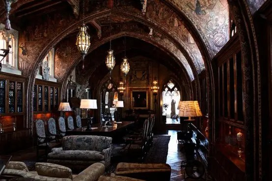 21 Gorgeous Gothic Home Office And Library Dcor Ideas  DigsDigs