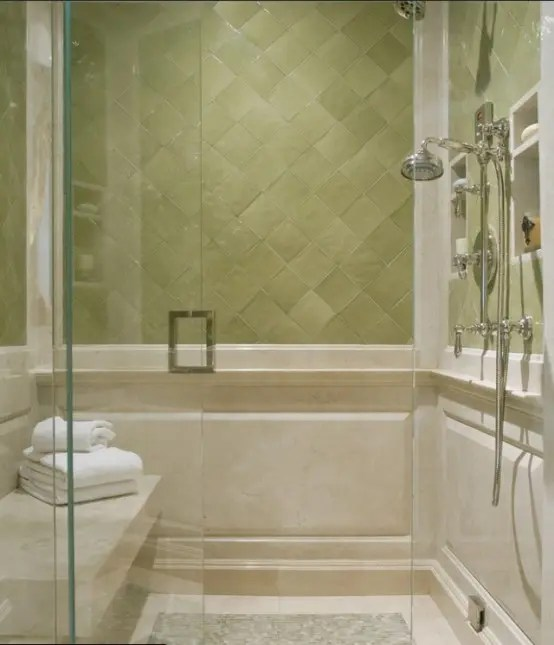 pictures of colors for living room corner shelves furniture 71 cool green bathroom design ideas - digsdigs