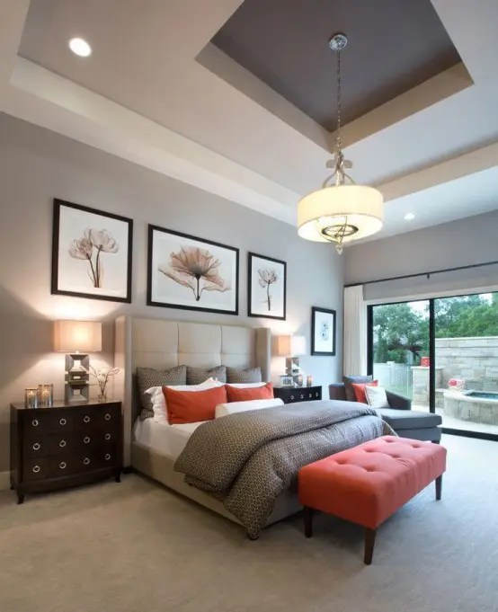 30 Grey And Coral Home Dcor Ideas DigsDigs