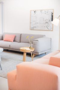 45 Grey And Coral Home Dcor Ideas - DigsDigs