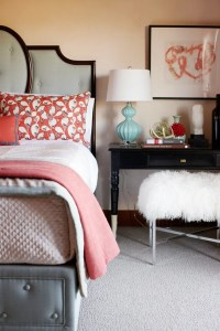 30 Grey And Coral Home Dcor Ideas | DigsDigs