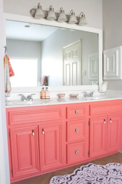 coral kitchen cabinet colors 30 Grey And Coral Home Décor Ideas - DigsDigs
