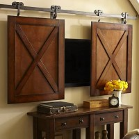 Hiding Your TV: 29 Trendy Panels And Doors Ideas | DigsDigs