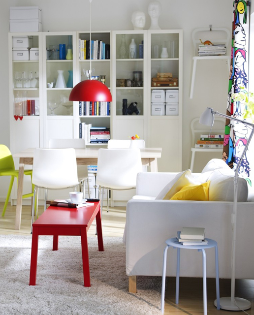 living room office slipcovers armless chairs 57 cool small home ideas digsdigs and a dining area with display storage
