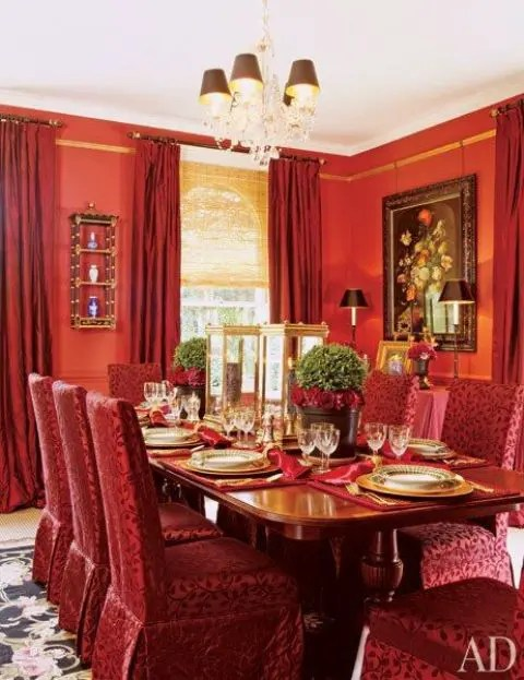 24 Hot Cranberry Monochromatic Rooms  DigsDigs