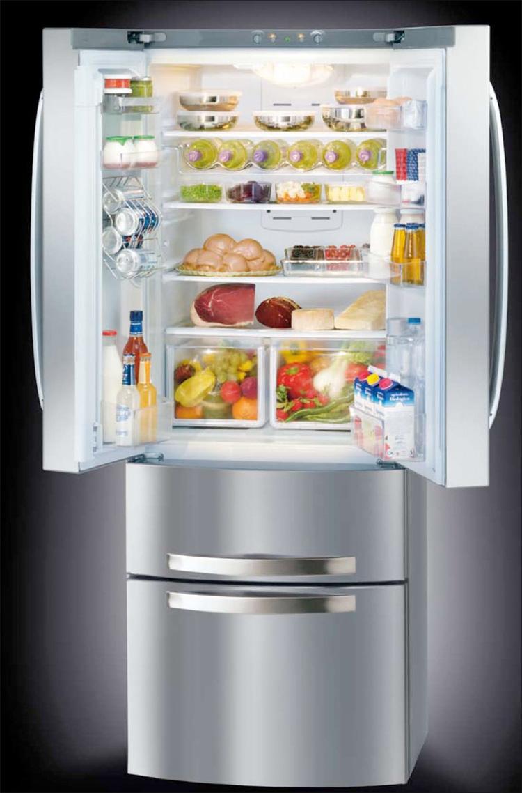 ikea stainless steel shelves for kitchen decorative track lighting new ergonomic 4-doors fridge - quadrio from hotspot ...