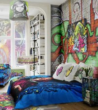 26 Daring Graffiti Statement Interior Wall Ideas