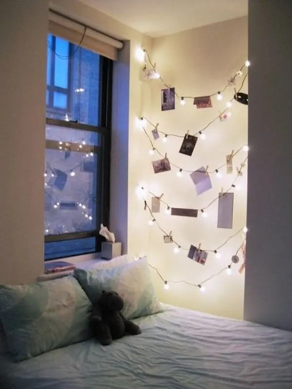If you are looking for inexpensive bedroom decorating ideas, check out these great pieces for under $100. How To Use String Lights For Your Bedroom: 32 Ideas | DigsDigs