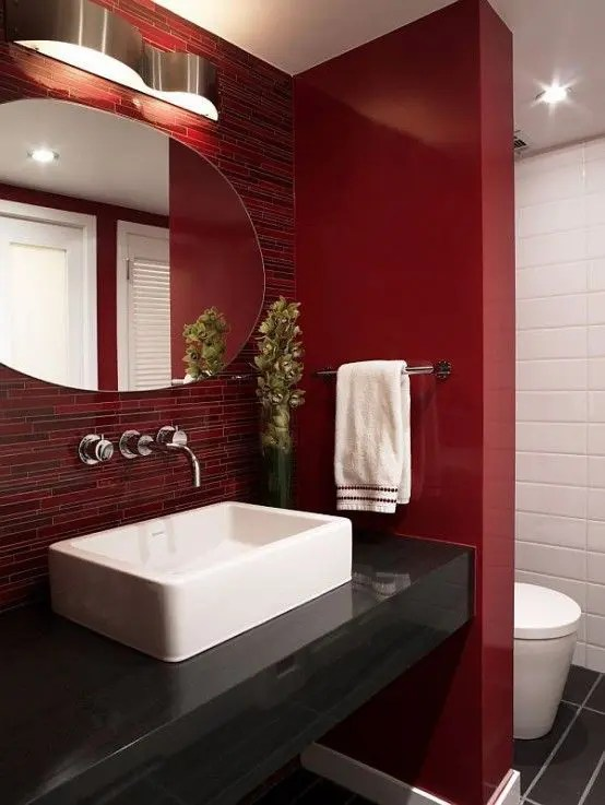 22 Ideas To Use Marsala For Bathroom Dcor DigsDigs