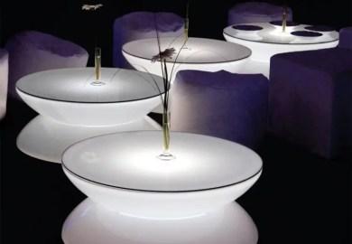 Orange Glass Table Lamp