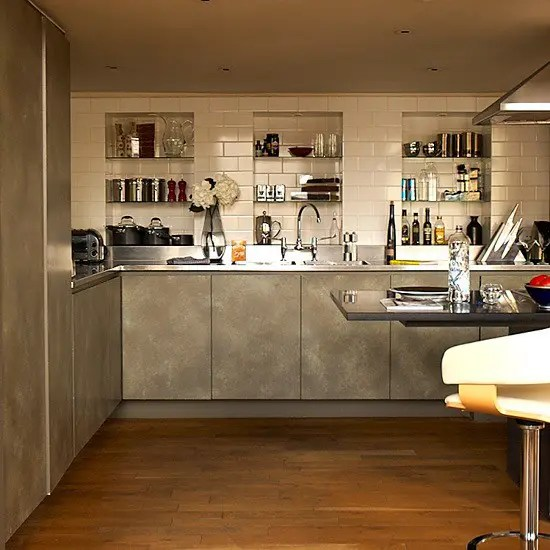 stainless steel kitchen table apartment cabinets 59 cool industrial designs that inspire - digsdigs