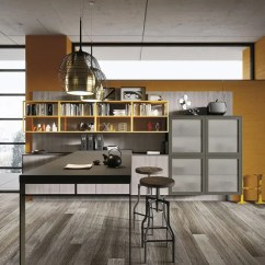 Kitchen Cabinets Light Wood Birch Industrial Loft With In Design - Digsdigs