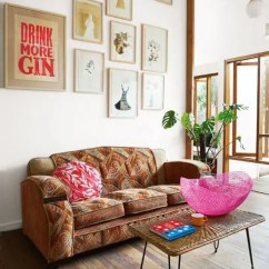 Bohemian Style Living Room Fireplace Small 85 Inspiring Designs Digsdigs A Distinctive Gallery Wall Makes Bold Appearance That Is So Necessary In This Clean Open