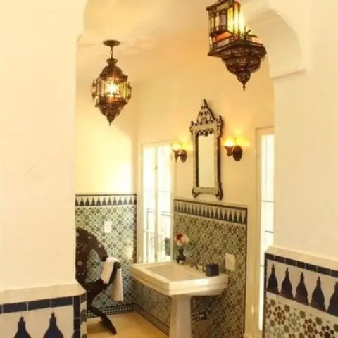pinterest decorating ideas for living room teal black and white eastern luxury: 48 inspiring moroccan bathroom design ...
