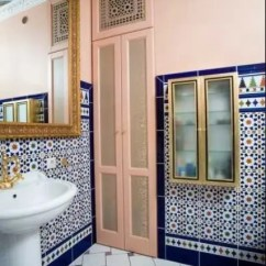 Black And Red Living Room Decorating Ideas Window Coverings For Large Eastern Luxury: 48 Inspiring Moroccan Bathroom Design ...