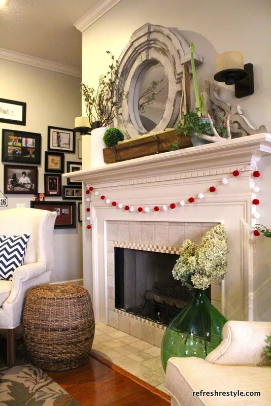 living room ideas on pinterest packages 62 inspiring and fresh spring mantels - digsdigs