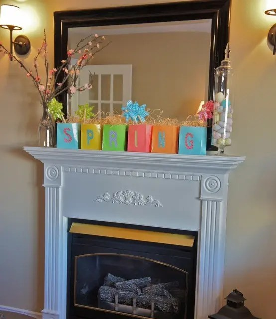 living room flowers lighting ideas pictures 62 inspiring and fresh spring mantels - digsdigs