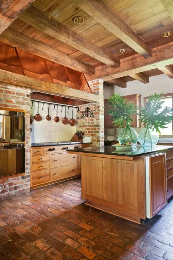 36 Inviting Kitchen Designs With Exposed Wooden Beams  DigsDigs
