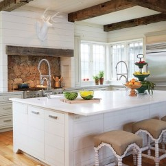 Living Room False Ceiling Design 2016 Flowers For 36 Inviting Kitchen Designs With Exposed Wooden Beams ...