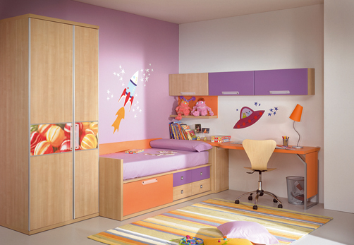 Kids Room Decor Violet