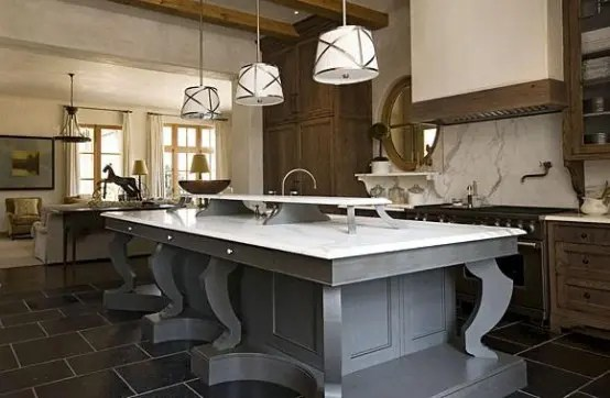 kitchen island large black faucet 125 awesome design ideas digsdigs gorgeous with gray wood support and white marble countertop it s perfect for