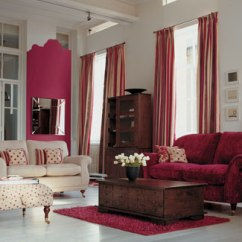 Red And Brown Living Room Curtains Eg Wooden Escape Walkthrough 111 Bright Colorful Design Ideas Digsdigs With Deep Reds Complementing Furniture