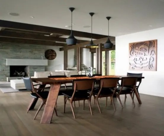 38 Elegant Masculine Dining Room Designs In Various Styles