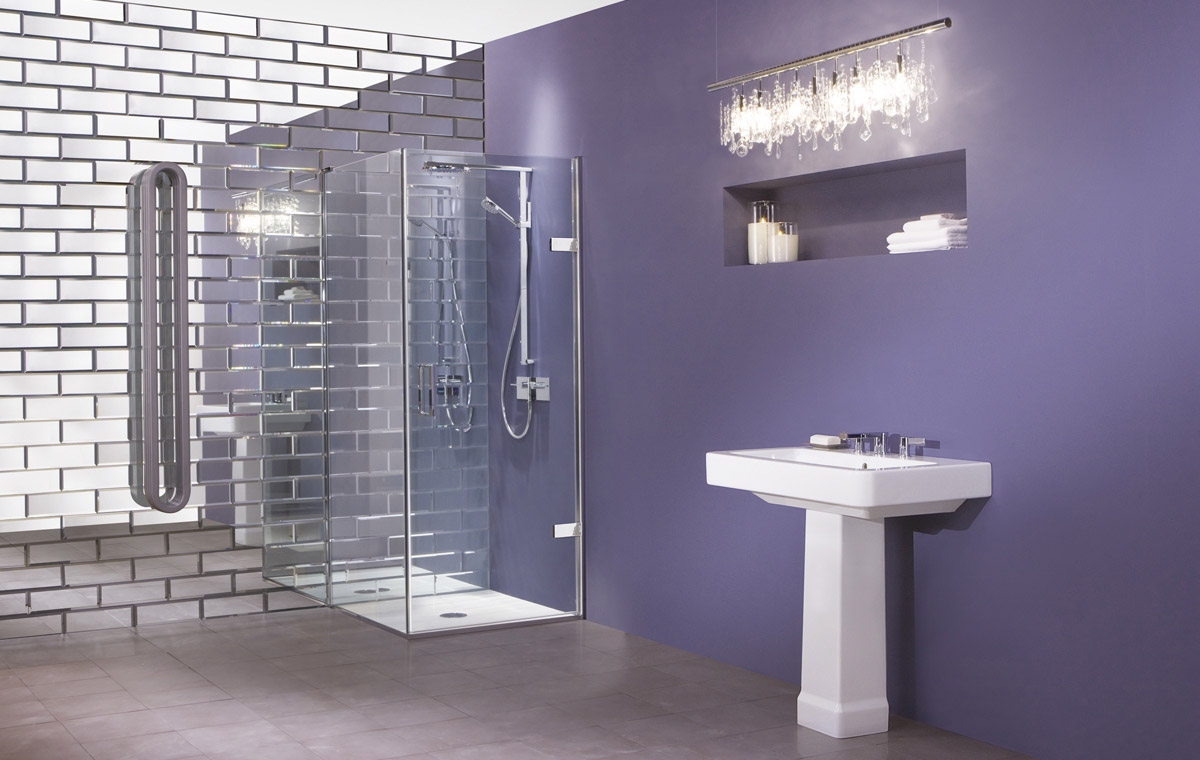 Flexible Shower Enclosures with Hinged Doors And Panels  New Eauzone Plus by Matki  DigsDigs