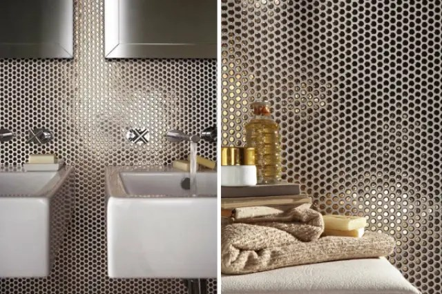 backsplashes for kitchen lowes appliance packages the hottest décor trend: 27 metallic tile ideas ...