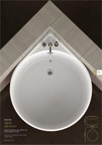 Cool Mini Bathtub Of Fiberglass For Small Spaces | DigsDigs