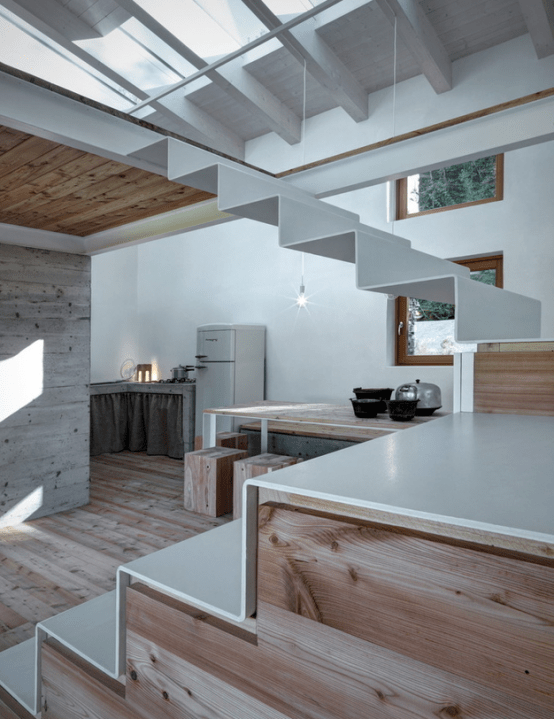 cabin kitchen decor hell games minimalist covered with stone from ruins - digsdigs
