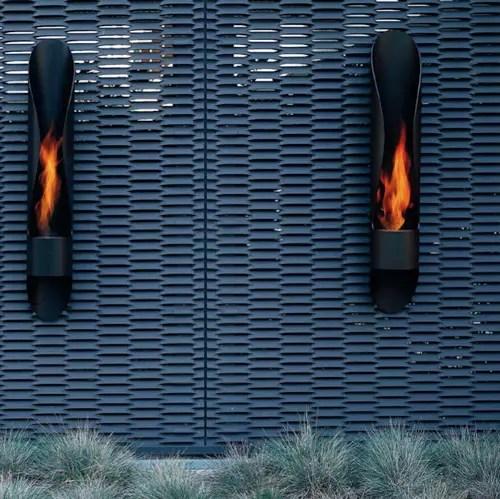 Minimalist Tube Outdoor Bioethanol Fireplace  DigsDigs