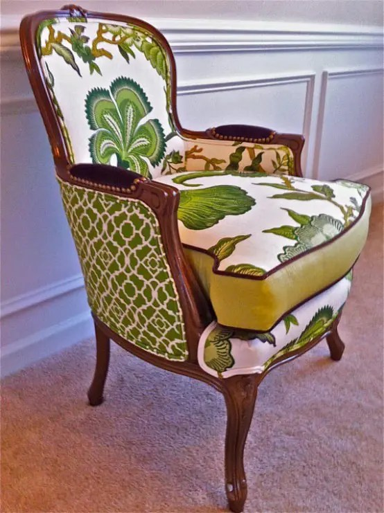 wingback chair upholstery ideas how to clean plastic chairs enliven your interior: 27 mixed furniture pieces - digsdigs