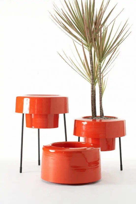Modern and Colorful Aluminum Planters with Powder Coated Finish  DigsDigs