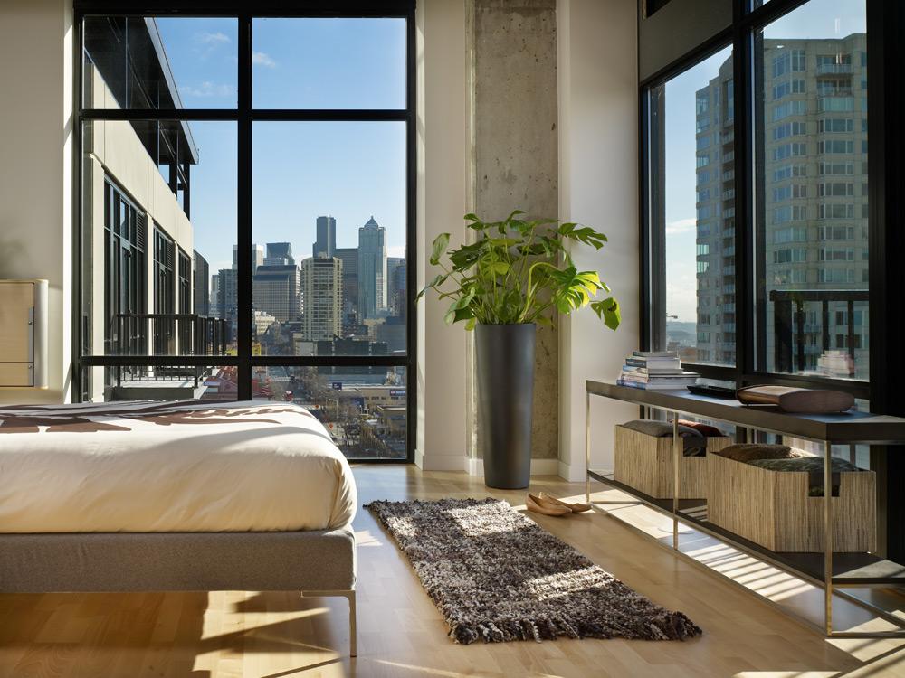 Modern Urban Green Loft Design  Mosler Lofts