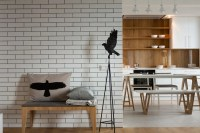 Modern Kiev Apartment With White Brick Walls | DigsDigs