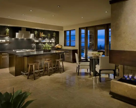 Luxury Kitchen And Living Room