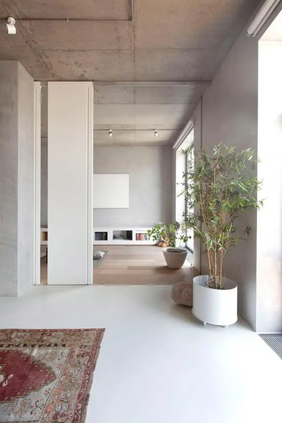 Modern Zen Moscow Apartment With An Indoor Garden  DigsDigs