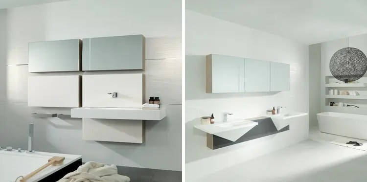 Cubism Inspired Bathroom Collection  Mondart from