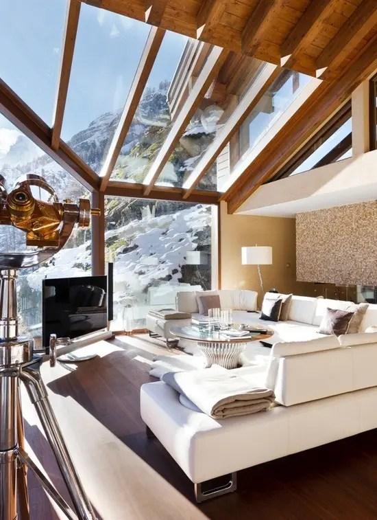 35 Natural Chalet Living Room Designs DigsDigs