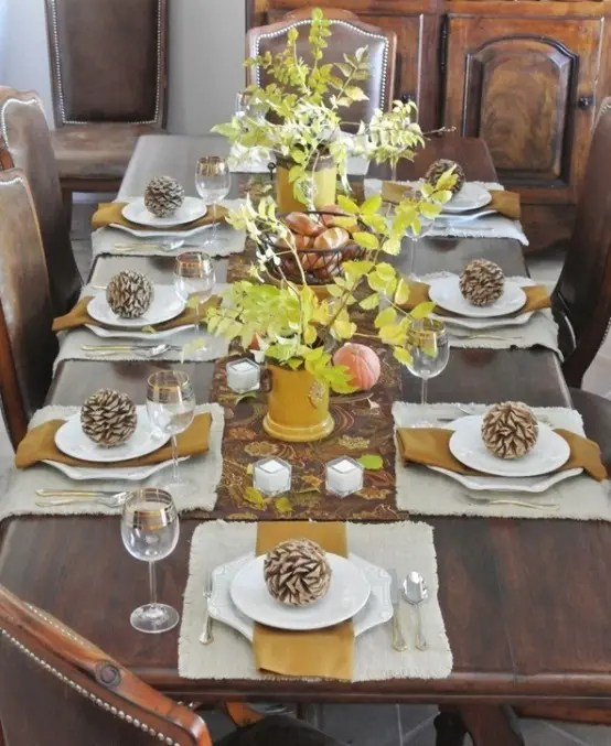 34 natural thanksgiving table