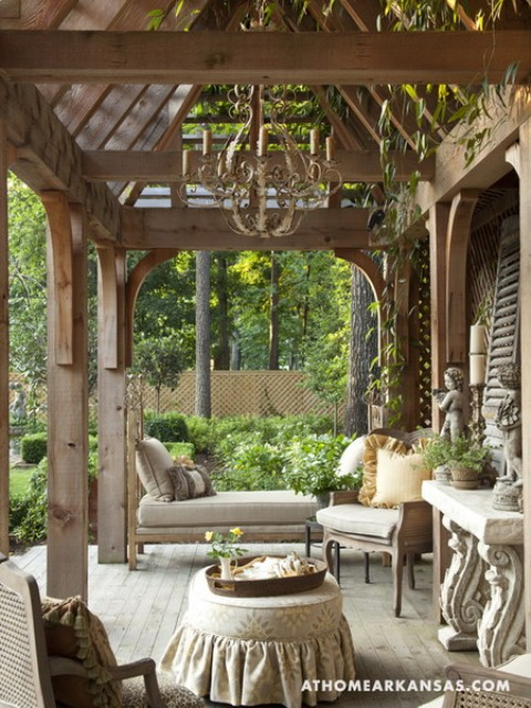 Amazing Old European Style Garden And Terrace Design